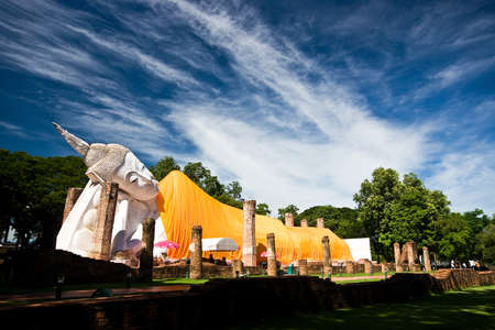 Ruin reclining buddha, Thailand photo