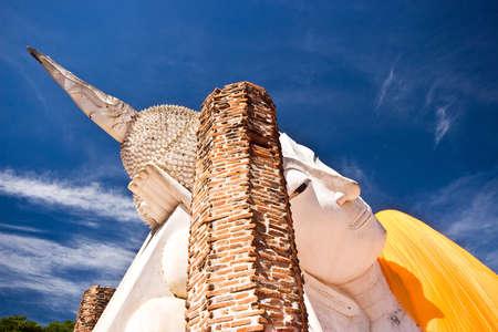 Ruin reclining buddha, Thailand photo