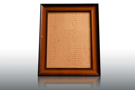 wooden photo frames isolated on white photo