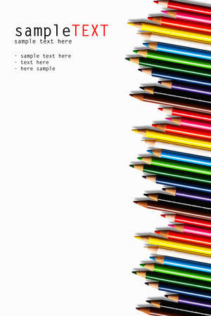 Color pencils isolated on whtie Stock Photo - 8947247