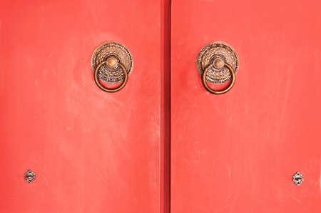 Red door abstract photo