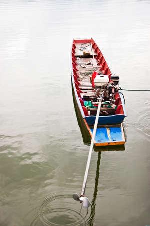 Long tail boat in lake Stock Photo - 9399574