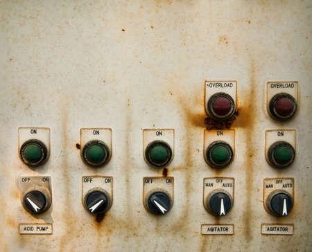 panel de control: Cuadro de control electical de grunge Foto de archivo