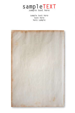 Grunge notebook on bamboo background photo