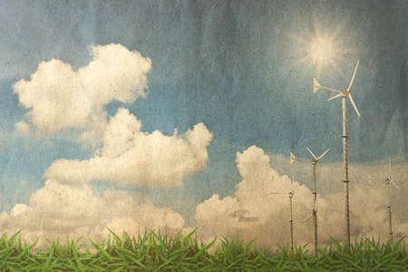 carbon dioxide: Grunge landscape background