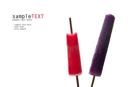 Ice cream isolate on white background photo