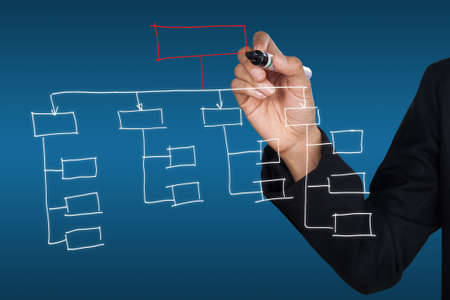 Hand drawing organization chart icon Stock Photo - 10078541
