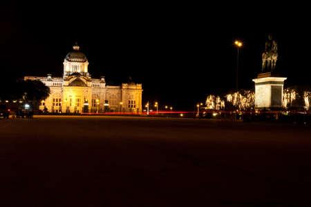 Beautiful royal palace night scene in Thailand photo