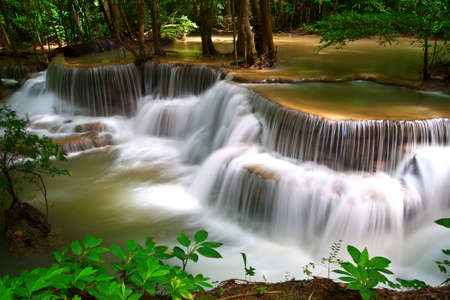Beautiful waterfall in Thailand, Huay Mae Khamin wafterfall