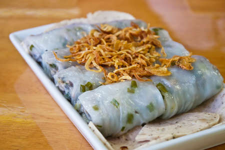 Vietnames Dumpling, Stuffed with Minced Pork and Mushroom photo