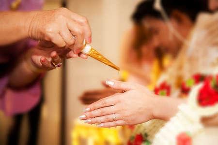 Thailand traditional wedding ceremony photo