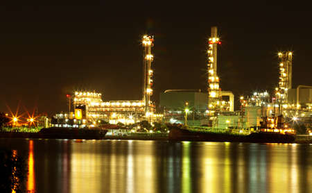Refinery oil plant at night Stock Photo - 15724020