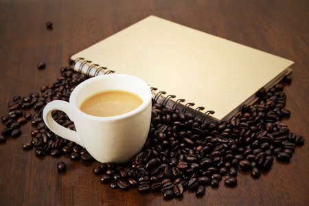 blackness: Book and coffee concept