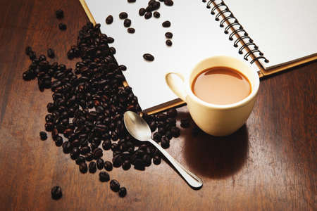 black beans: Coffee and book