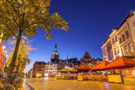 City center of Nijmegen at night