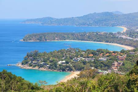 Kata and Karon beach, beautiful seascape at Phukhet, Thailand Stock Photo