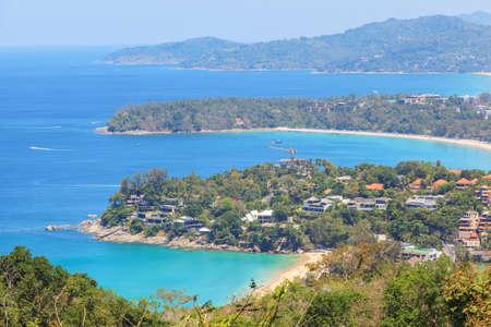 Kata and Karon beaches from view point at Phuket, Thailand