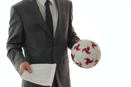 a man in suit suggest transfer contract l photo