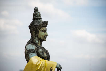 statuary in temple from thailand