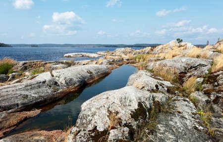 on shore: stony shore