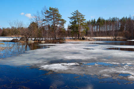 Spring on Lake Vuoksa Stock Photo