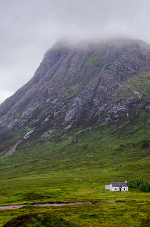 misty scottish scenery in glencoe - stock photo photo