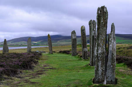 standing stones on orkneys - ring of brodgar