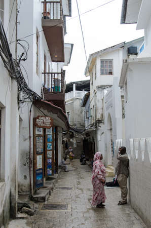 STONE TOWN, TANZANIA - 27 MARCH: narrow streets of Stone Town - main city of Zanzibar, old colonial province - 27 MARCH, 2013, Stone Town, Tanzania