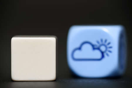 blank dice with weather dice  Stock Photo
