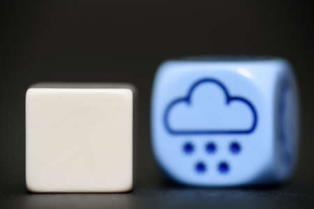 randomness: blank dice with weather dice