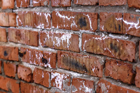 Texture of brick wall of garage