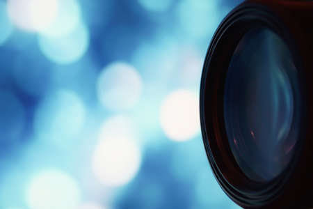 filmmaker: Camera accessories professional photography lenses Stock Photo
