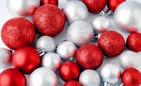 christmas tree toys on a white background christmas decorations on a white surface balls - Christmas Tree Toy Decorations