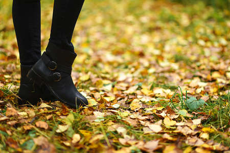 Boots for an autumn walk in the Park