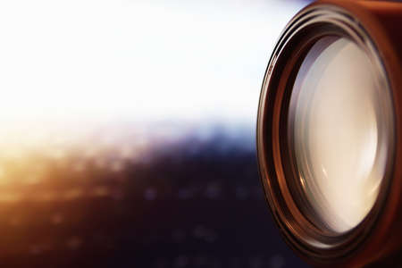 Camera accessories professional photography lenses Stock Photo