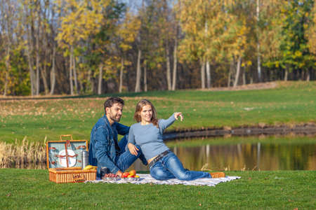 The couple had an outdoor picnic in the park