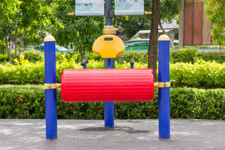 machines: Fitness machines in park