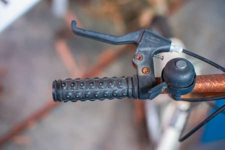 maneuvering: black hand bike Stock Photo