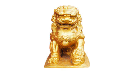 Lion Statue on White Background