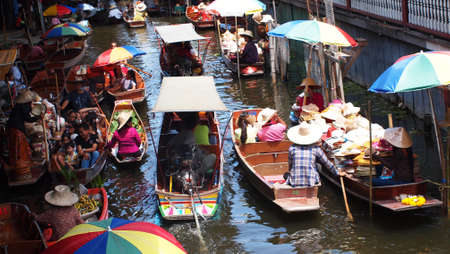 Thailand Traditional floating market