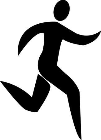 Male Runner Stylized Illustration