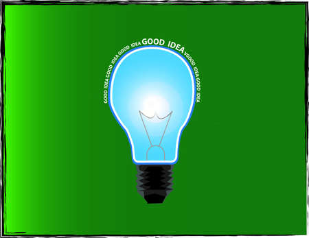 light bulb good idea Illustration