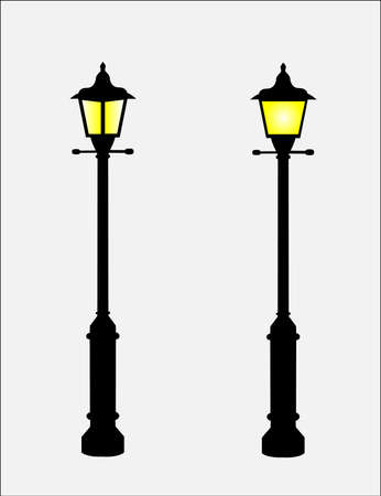 Lamp Posts Illustration