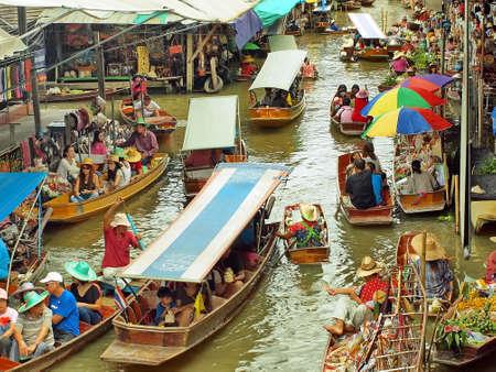 Floating Market Thailand Editorial