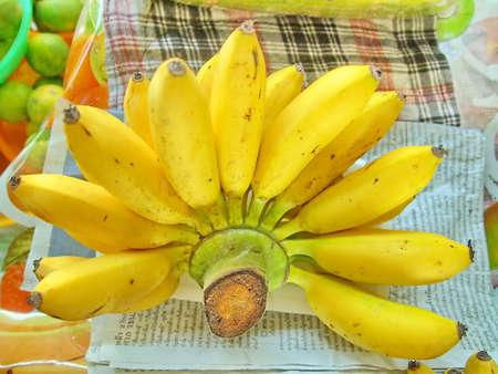 Bunch of ripe bananas Stock Photo