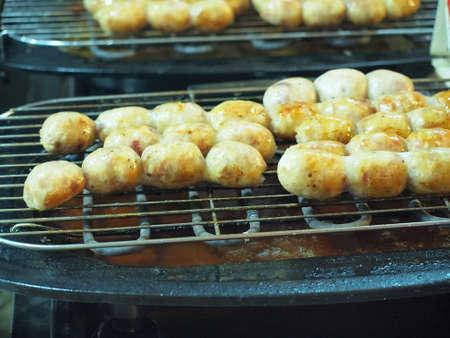 Thai Sausages Stock Photo