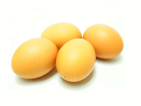 Four Eggs Isolated on White Background