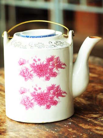 Chinese style teapot Stock Photo
