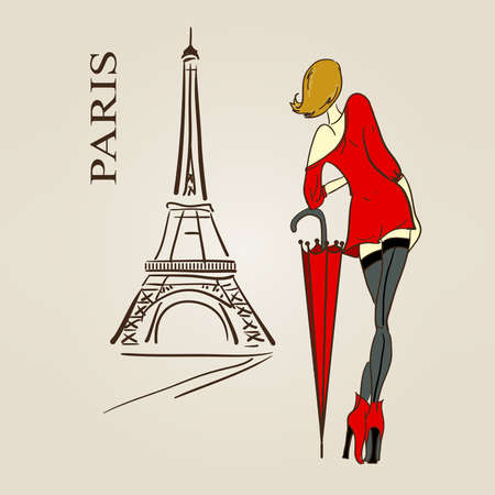 Paris scetch Stock Vector - 13536529