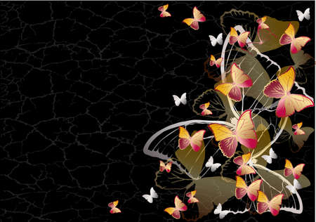 single color image: Butterfly background Illustration